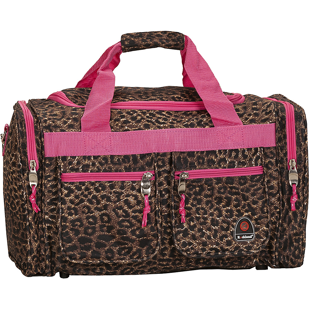 "Rockland Luggage Freestyle 19"" Tote Bag Pink Leopard - Rockland Luggage Rolling Duffels"