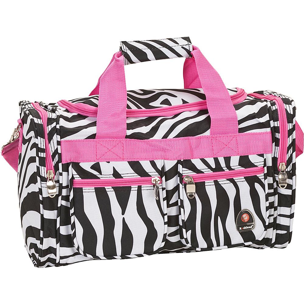 "Rockland Luggage Freestyle 19"" Tote Bag PINKZEBRA - Rockland Luggage Travel Duffels"