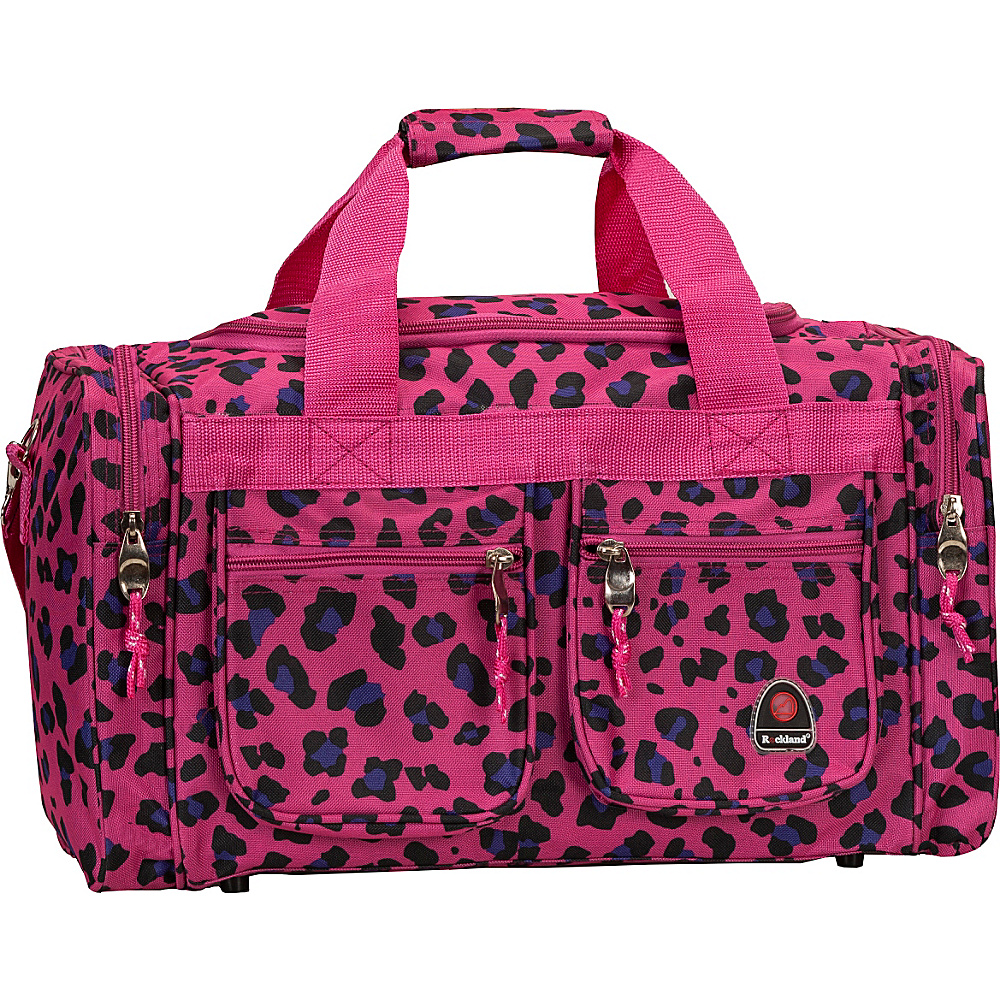 """Rockland Luggage Freestyle 19"""" Tote Bag MAGENTA LEOPARD - Rockland Luggage Rolling Duffels"""
