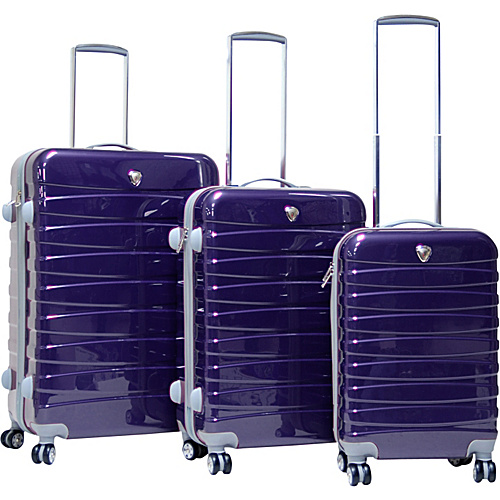 CalPak Atlantis 3 Piece Hardside Spinner Set Purple - CalPak Hardside Luggage