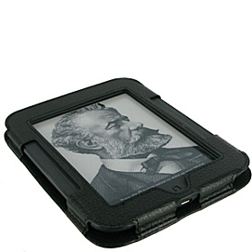 Executive Portfolio Leather Case for Nook Simple Touch Reader Black