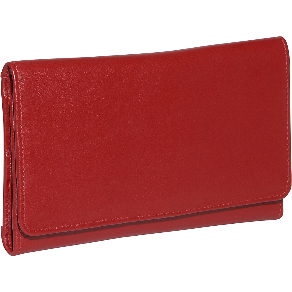 Derek Alexander Trifold Credit Card Clutch - Red - Women's SLG, Women's Wallets