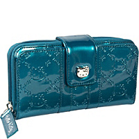 Loungefly Hello Kitty Teal Patent Embossed Wallet