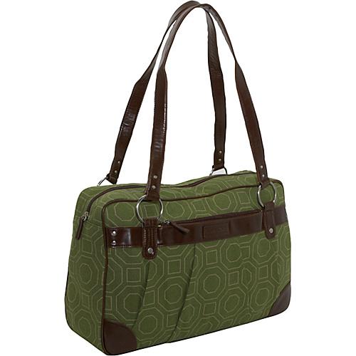 Kailo Chic Ladies Laptop Weekender - Green Hexagon