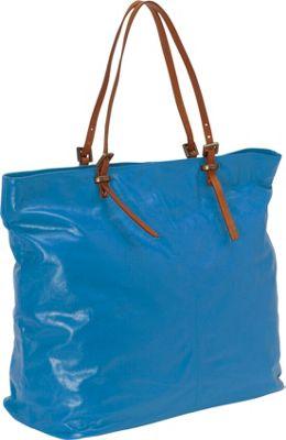 Latico Leathers Nadia Tote Blue/Tan - Latico Leathers Leather Handbags