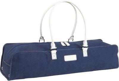Crescent Moon Metro Linen Mat Bag - Navy/White