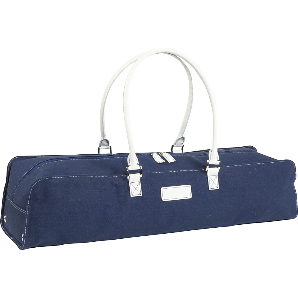 Crescent Moon Metro Linen Mat Bag Navy White