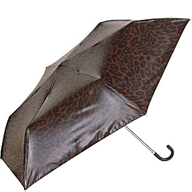 Manual Compact Print Umbrella w/ Mirror Finish - Cheetah Cheetah