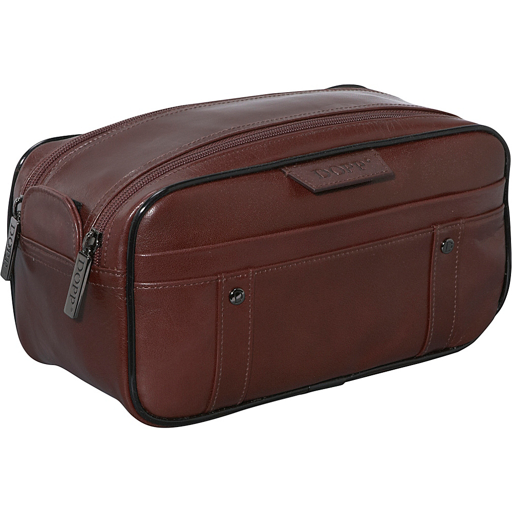 Dopp Veneto Soft Sided Multi-Zip Travel Kit - Brown