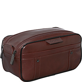 Veneto Soft Sided Multi-Zip Travel Kit Brown