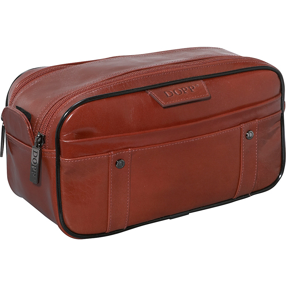 Dopp Veneto Soft Sided Multi-Zip Travel Kit - Tan