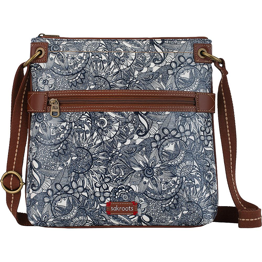 Sakroots Artist Circle Flat Crossbody Navy Spirit Desert - Sakroots Fabric Handbags - Handbags, Fabric Handbags