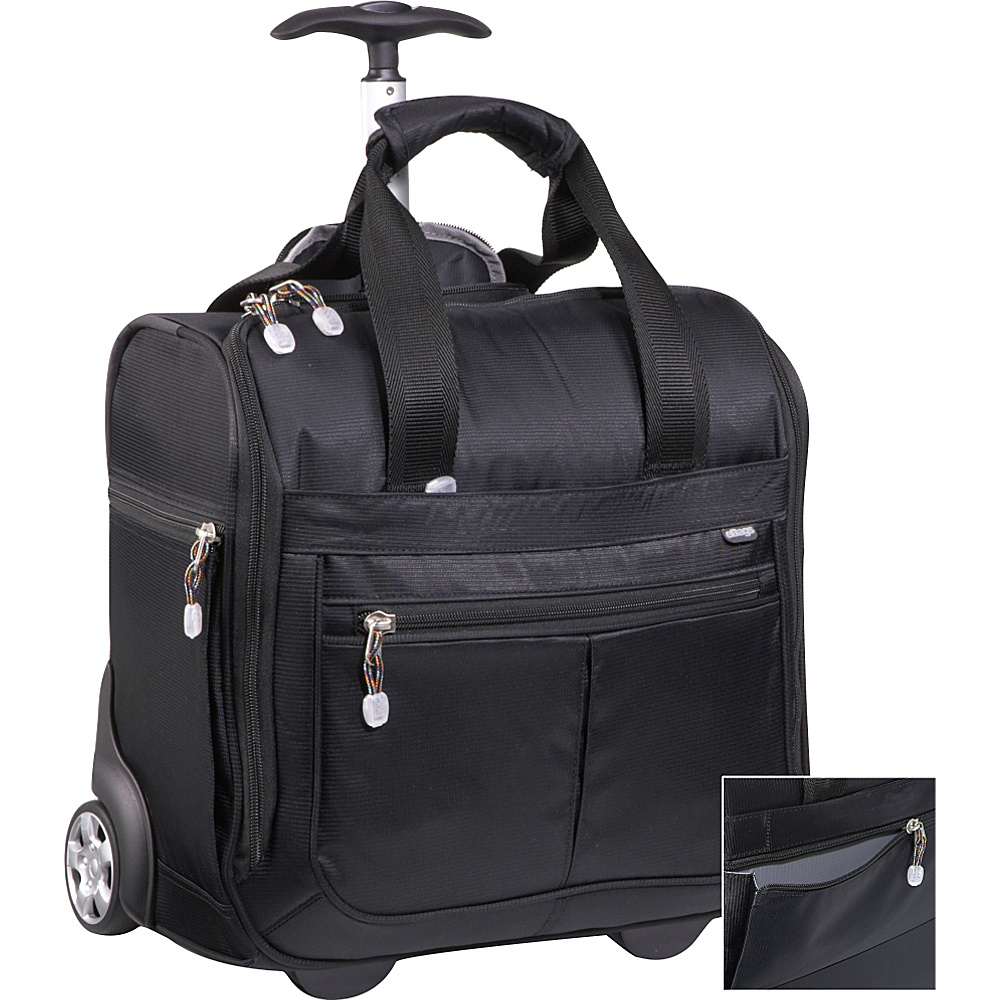 eBags Kalya Rolling Tote - Black - Luggage, Softside Carry-On