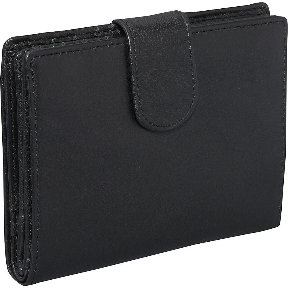 Derek Alexander Three Part Show Card Wallet - Black - Women's SLG, Women's Wallets