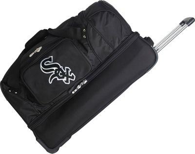 Denco Sports Luggage MLB 27 inch Drop Bottom Wheeled Duffel Bag Chicago White Sox - Denco Sports Luggage Travel Duffels