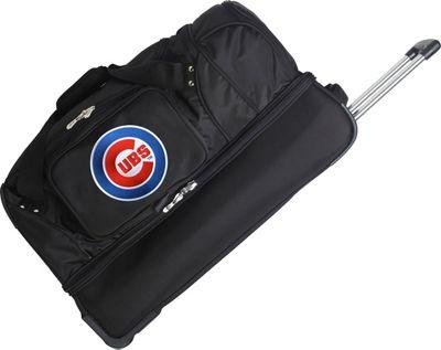 Denco Sports Luggage MLB 27 inch Drop Bottom Wheeled Duffel Bag Chicago Cubs - Denco Sports Luggage Travel Duffels