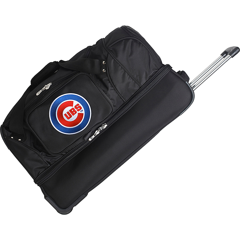 Denco Sports Luggage MLB 27 Drop Bottom Wheeled Duffel Bag Chicago Cubs - Denco Sports Luggage Travel Duffels - Duffels, Travel Duffels
