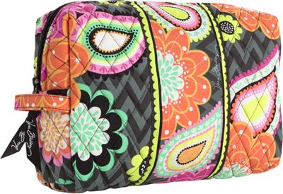 Vera Bradley Large Cosmetic Ziggy Zinnia - Vera Bradley Ladies Cosmetic Bags