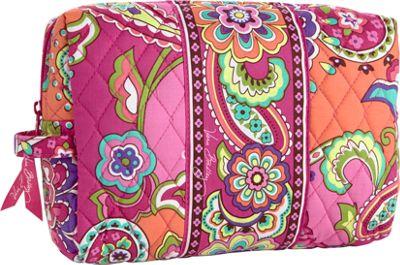 Vera Bradley Large Cosmetic Pink Swirls - Vera Bradley Ladies Cosmetic Bags