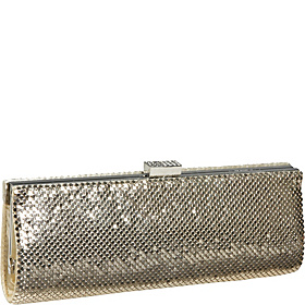 East West Metal Mesh Clutch GOLD