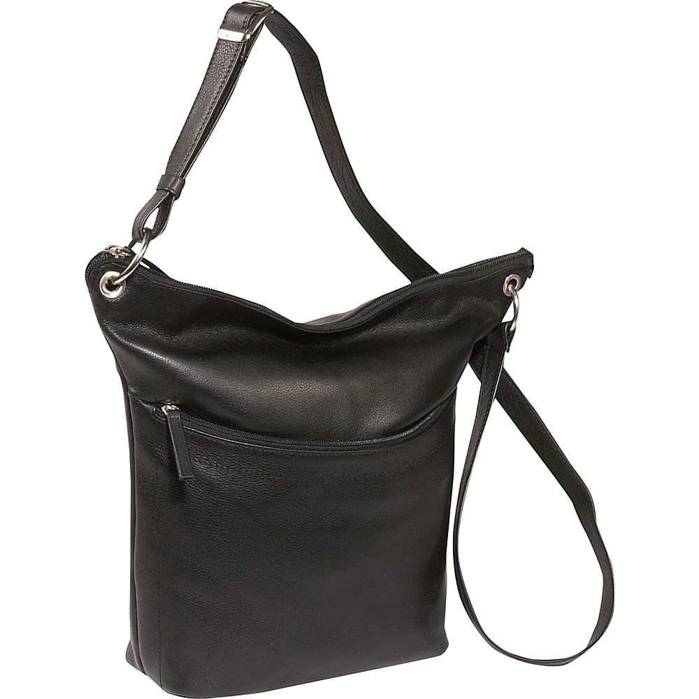 Derek Alexander North/South Top Zip Bucket Style - Handbags, Leather Handbags