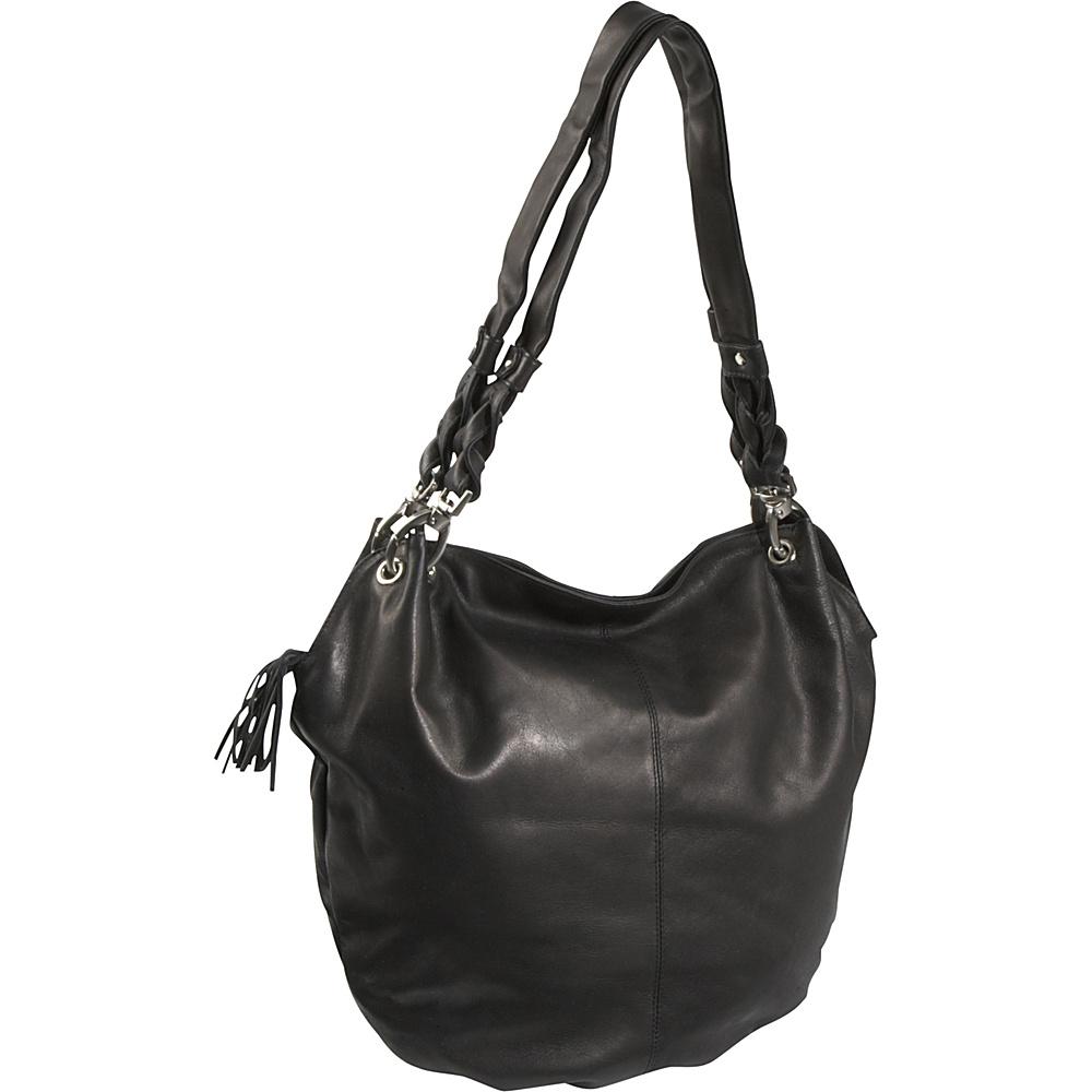 Derek Alexander Large Wide Mouth Bucket Bag - Black - Handbags, Leather Handbags