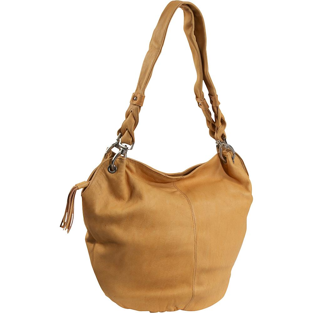 Derek Alexander Large Wide Mouth Bucket Bag - Buff - Handbags, Leather Handbags