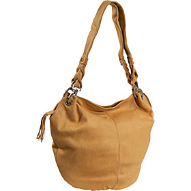 Large Wide Mouth Bucket Bag Buff