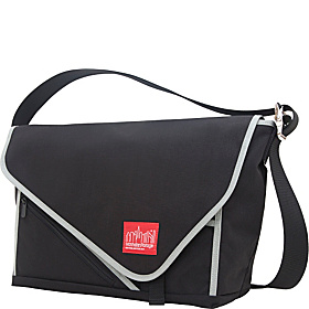 Flat Iron Laptop Messenger (LG) Black, Black, Silver