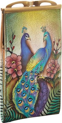 Anuschka Double Eyeglass Case Passionate Peacocks - Anuschka Sunglasses
