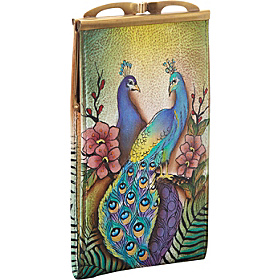 Double Eyeglass Case Passionate Peacocks