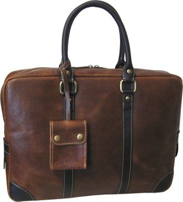 AmeriLeather Leather Commuter Portfolio Brown - AmeriLeather Non-Wheeled Business Cases