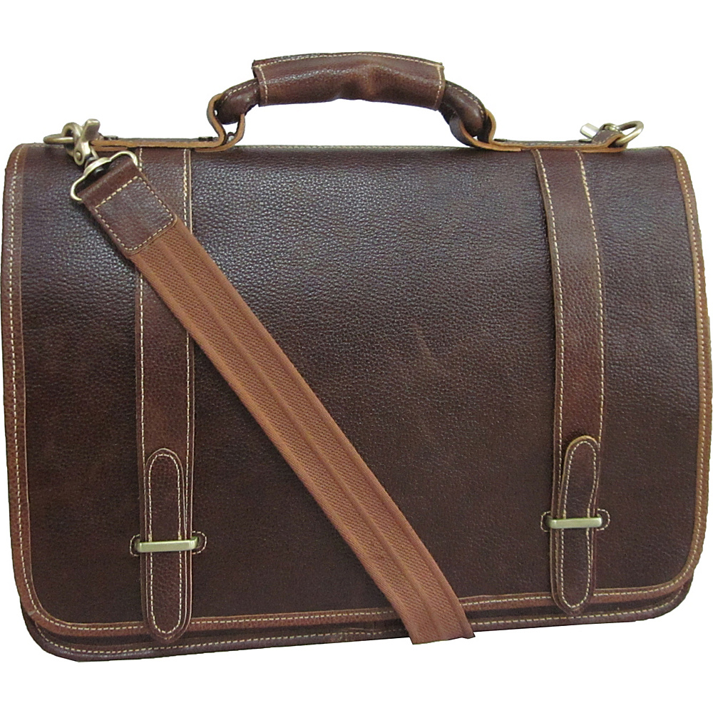 AmeriLeather Traditional Double Slip-in Executive - Work Bags & Briefcases, Non-Wheeled Business Cases