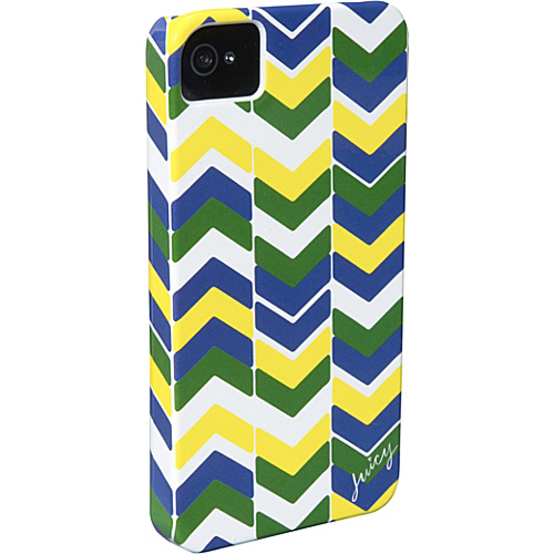 Juicy Couture Chevron Stripe iPhone Case Atlantis - Juicy Couture Designer Business