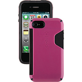 iPhone 4S Candyshell Card Case Deep Magenta/Black