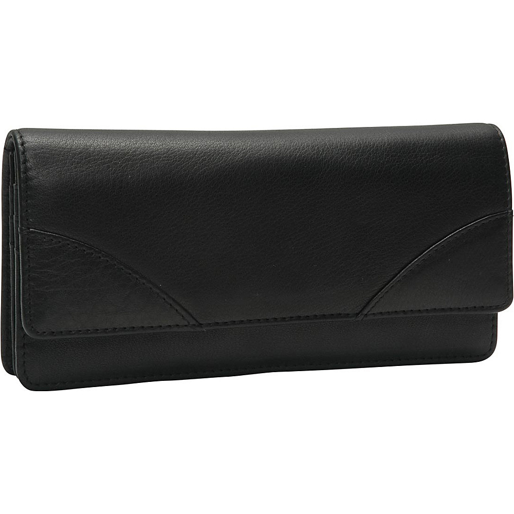 TUSK LTD Donington Gold Gusseted Clutch Wallet Black TUSK LTD Women s Wallets