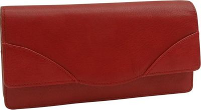TUSK LTD Donington Gold Gusseted Clutch Wallet Red - TUSK LTD Women's Wallets