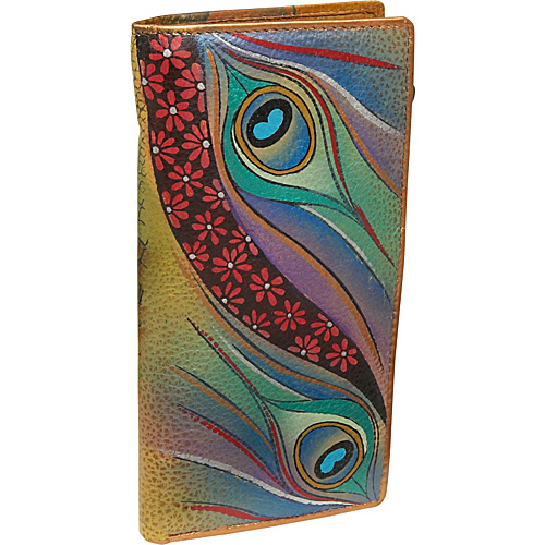 Anuschka Ladies Clutch Wallet- Dancing Peacock