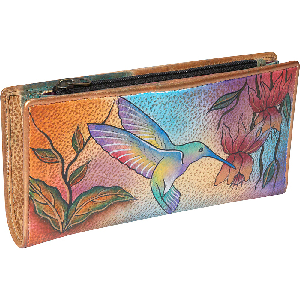 Anuschka Ladies Clutch Wallet Flying Jewels Flying