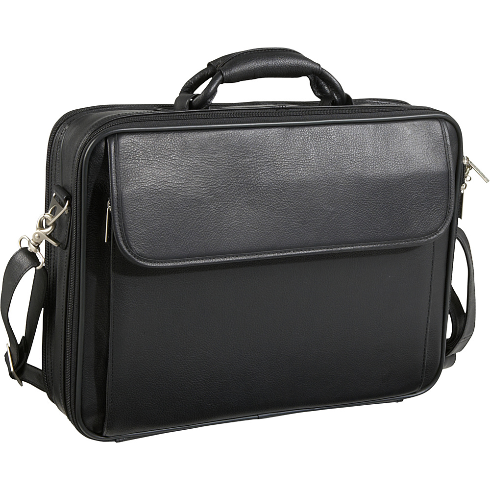 AmeriLeather Leather Notebook Laptop Bag - Black - Work Bags & Briefcases, Non-Wheeled Business Cases