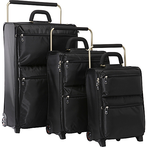 IT Luggage IT--2 World's Lightest 2-Wheeled 3 Piece Luggage Set Black - IT Luggage Luggage Sets
