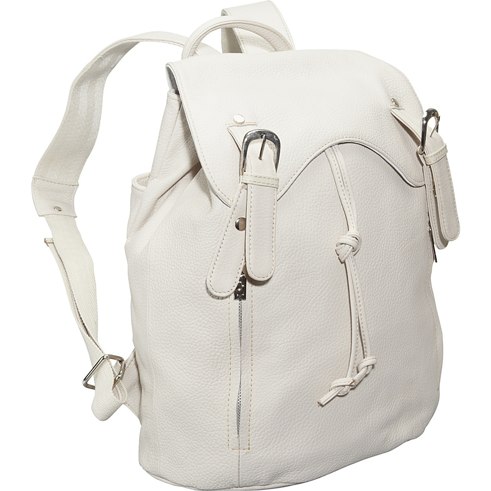 AmeriLeather Clementi Backpack Off White - AmeriLeather Leather Handbags - Handbags, Leather Handbags