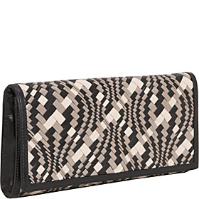Multi Optical Weave - Izzie Clutch Black Print