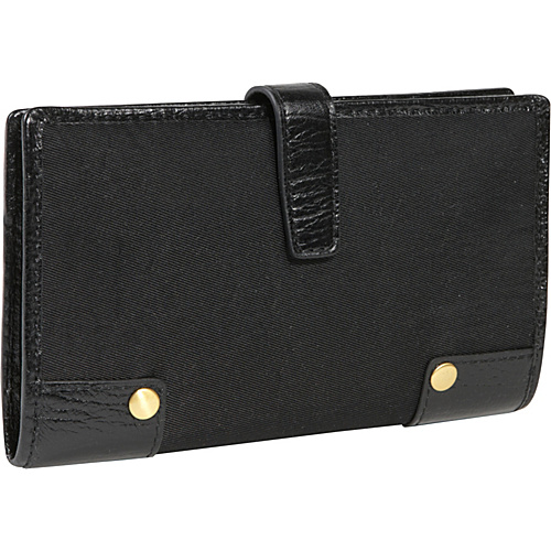 Ellington Handbags Mia Checkbook/Wallet Black - Ellington Handbags Ladies Clutch Wallets