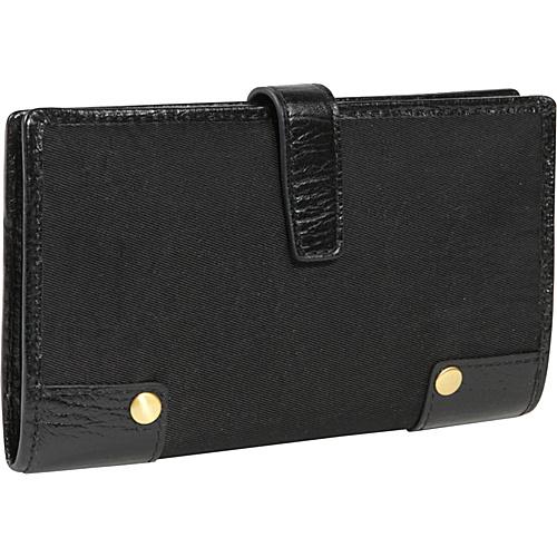 Ellington Handbags Mia Checkbook/Wallet Black - Ladies Clutch Wallets
