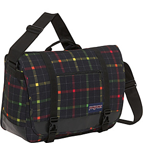 Throttle 15'' Laptop Messenger Black/Rasta London Plaid