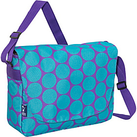Big Dots Aqua Laptop Messenger Bag Big Dots Aqua
