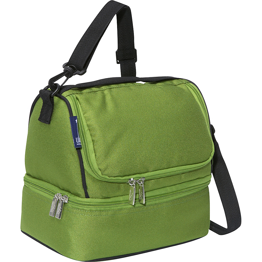 Wildkin Parrot Green Double Decker Lunch Bag - Parrot - Travel Accessories, Travel Coolers