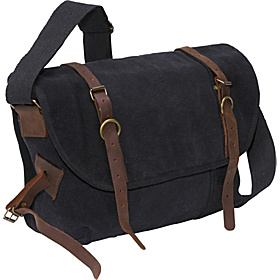 Vintage Explorer Messenger Bag Black