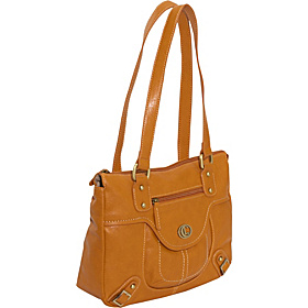 Via Del Corso Satchel Luggage Tan